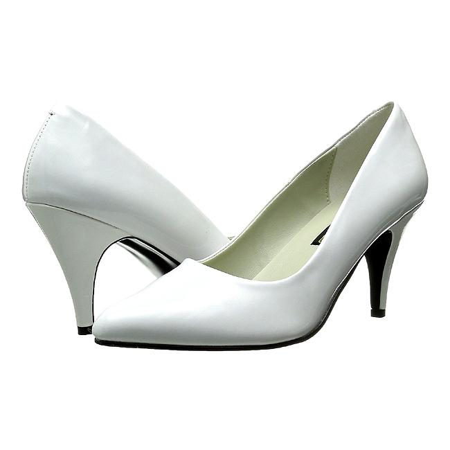 PUMP-420 blanc verni chaussures escarpins taille 35 - 36